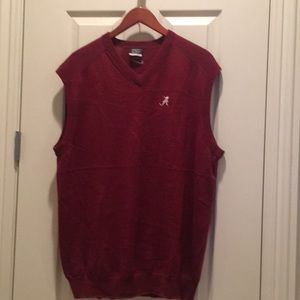 "Men's sweater vest- Univ of Alabama logo ""A"""